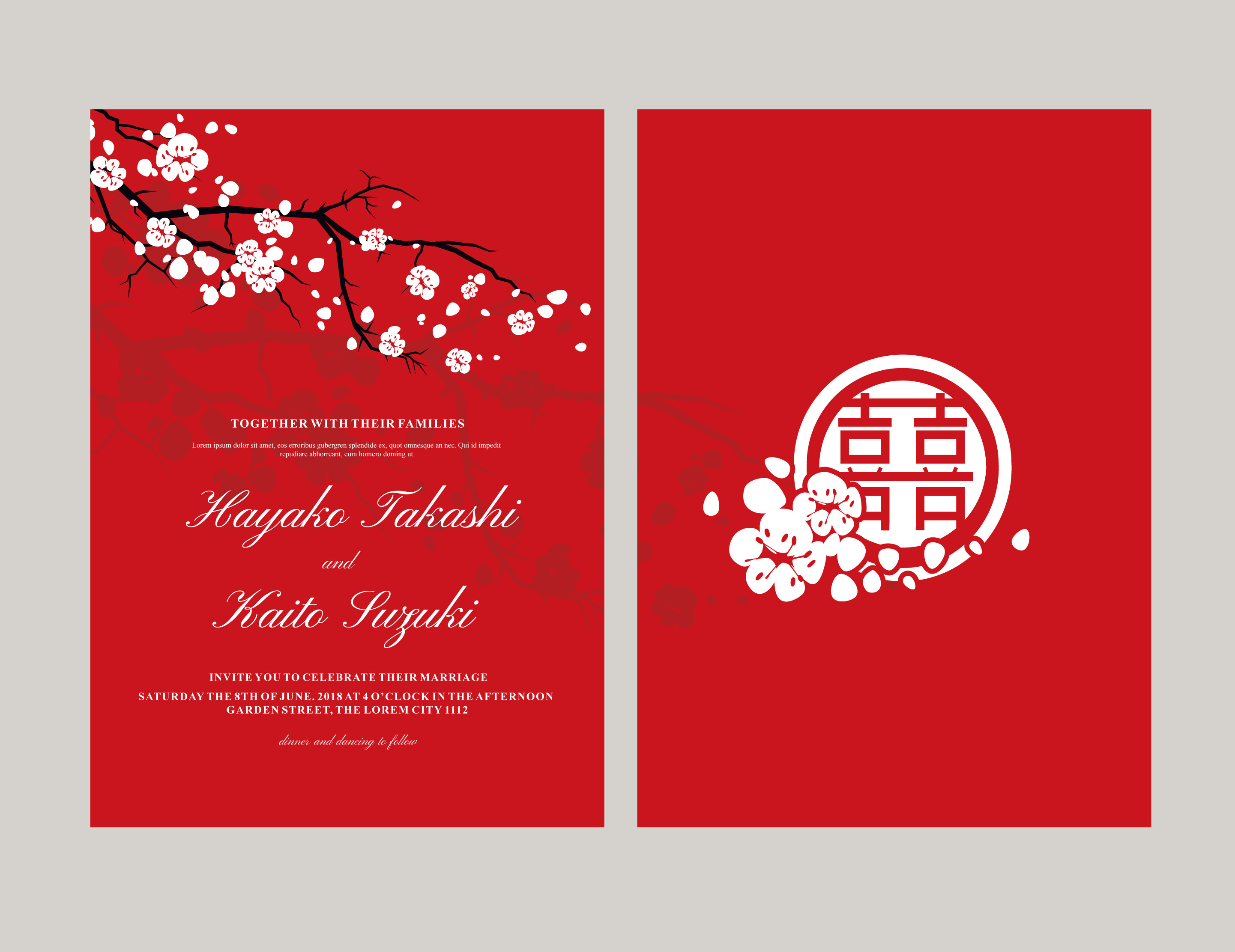 Japanese style invitation vector - Download Free Vector Art, Stock ...