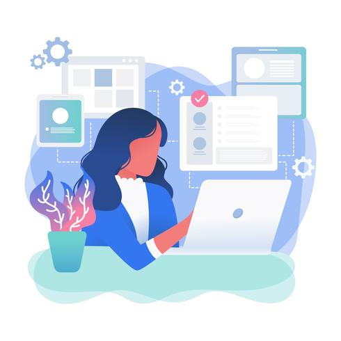 Female Developer Vector