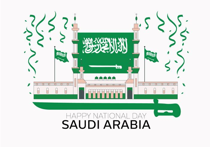 Saudiarabisk National Day Vector