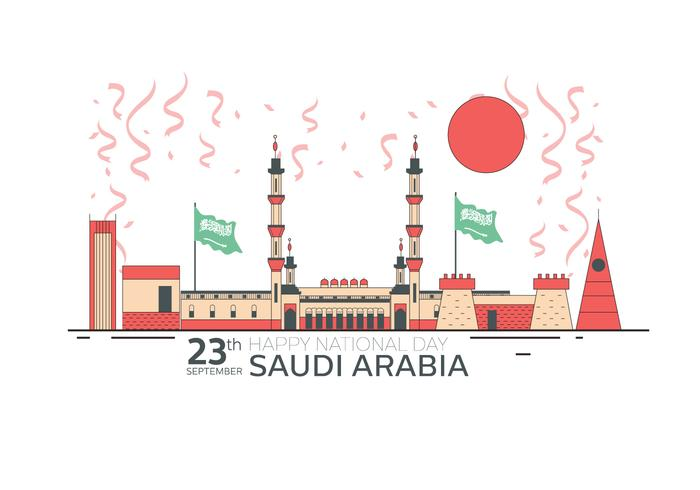 Saudi National Day 23 September Vector