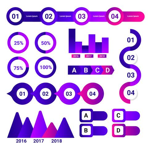 ultraviolet infographic element vector