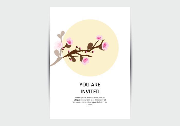 Plantilla de tarjeta de flor de Sakura
