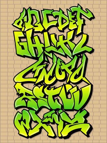 Vackra Graffiti Alfabetvektorer