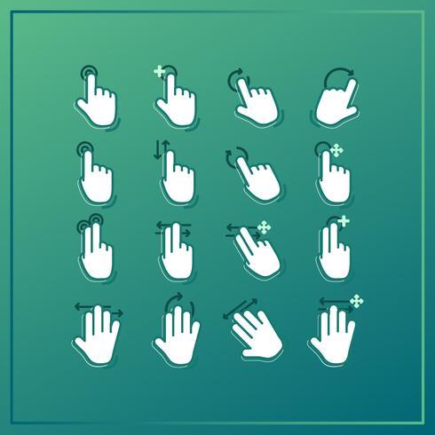 vektor hand gester samling