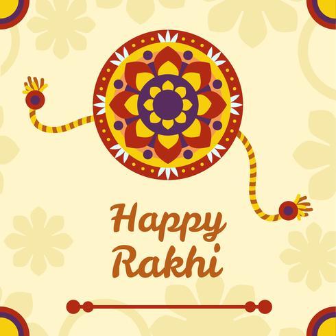 Glad Rakhi Designvektor