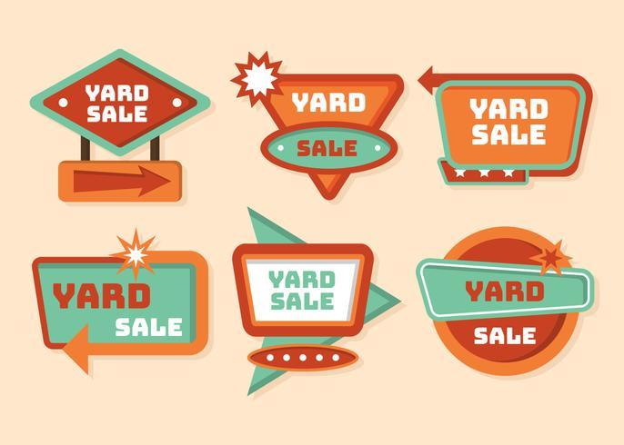 Yarda, venta, señal, vector