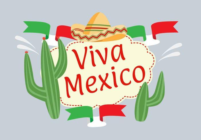 Vector de ilustración de viva mexico