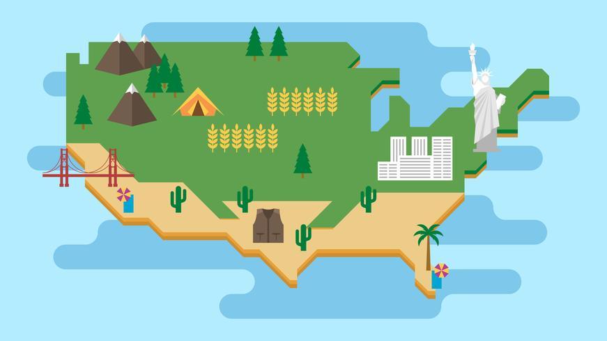 Infografías turísticas sobre la ilustración de América