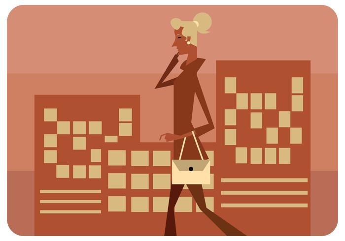Vetor de mulher de negócios