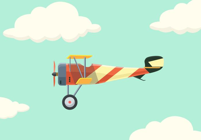 Biplane Vector Illustration