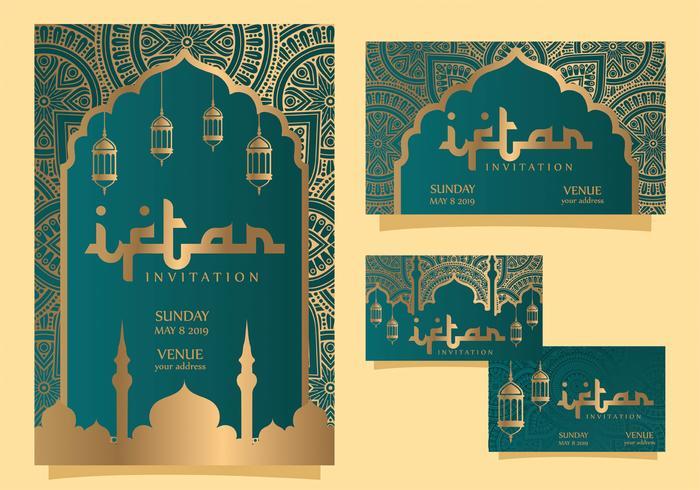 iftar inbjudan vektor design