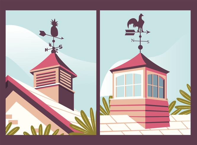 Hem med Weather Vane Poster Pack