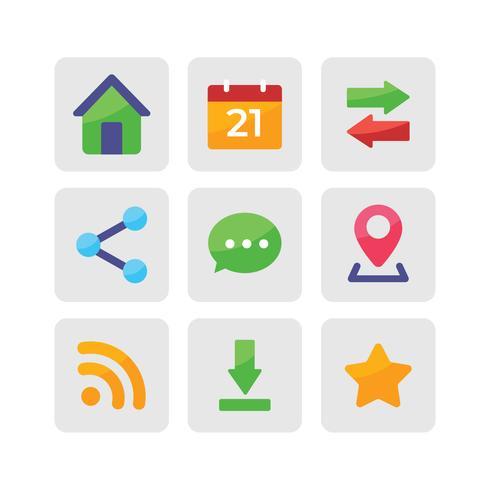 Iconos planos de redes sociales