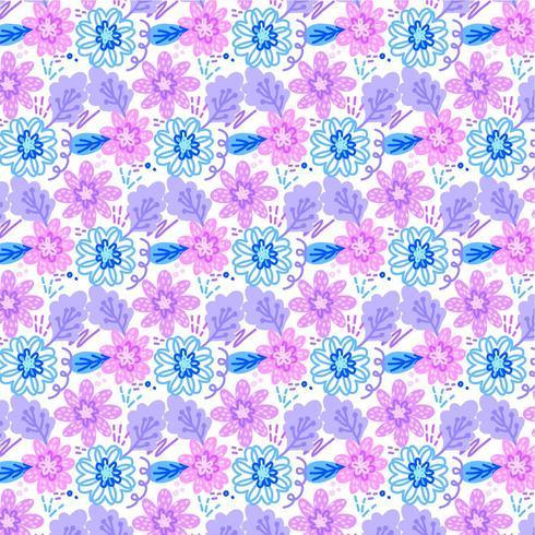 Vector kleurrijk naadloos bloemenpatroon