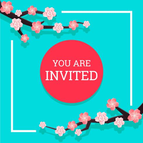 Japanese Invitation 2 vector
