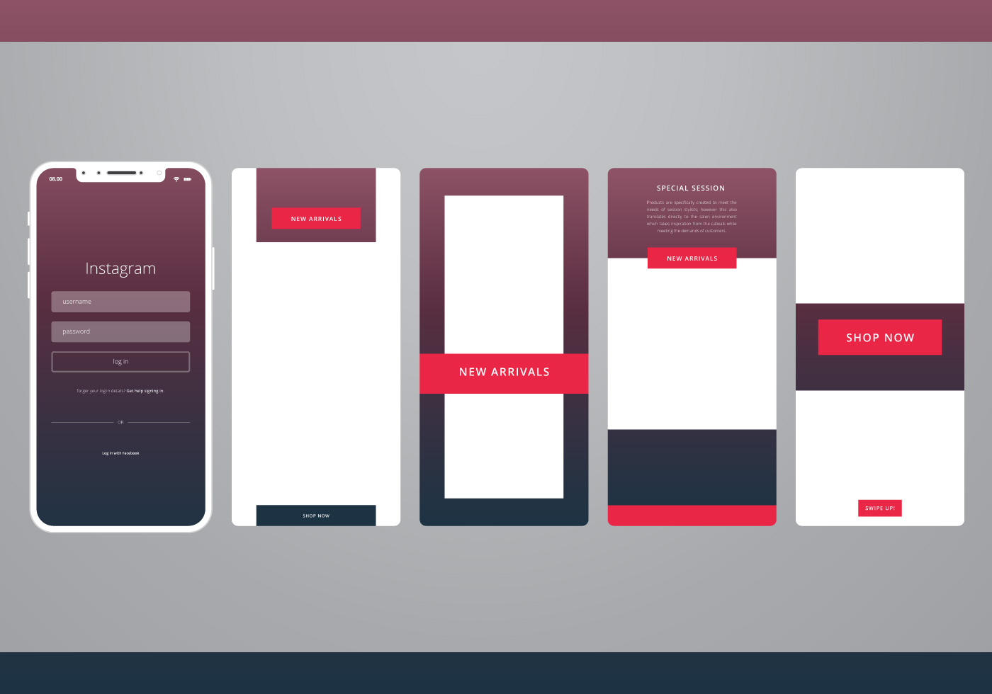Vector Illustration Instagram: Instagram Sale Template Ready To Use