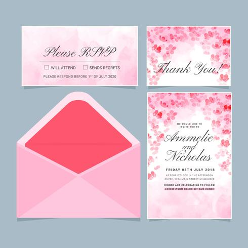 Vector Japanese Style Invitation