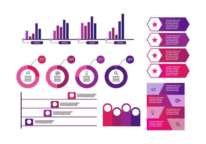 Vector de elementos de infografía ultravioleta