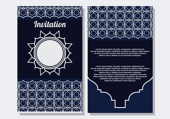 Islamitische stijl uitnodiging sjabloon