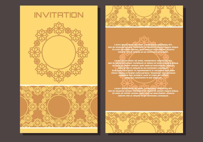 Uitnodiging van de luxe islamitische stijl