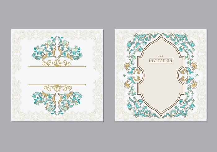 Cartão ou convite estilo islâmico