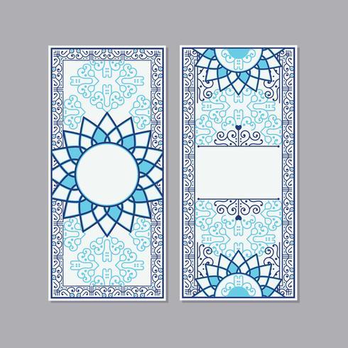 Tarjeta de felicitación o invitación estilo islámico