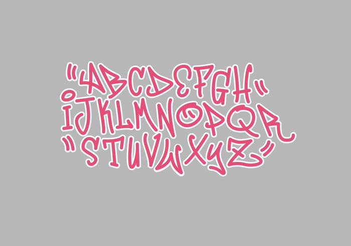 illustration vectorielle de graffiti alphabet