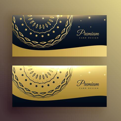 luxe mandala gouden banner ontwerp
