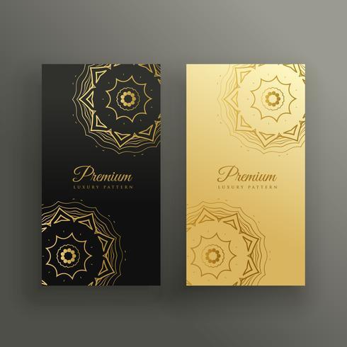 conception de carte de visite de style mandala premium
