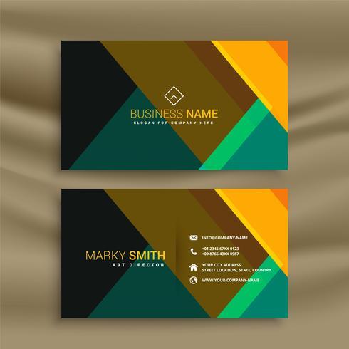 design de cartão moderno geométrico