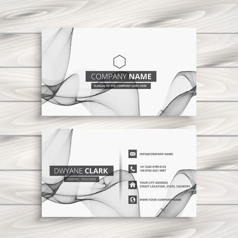 modelo de cartão abstrato branco