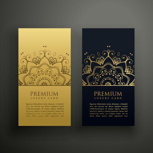 Lyx mandala stil kort design