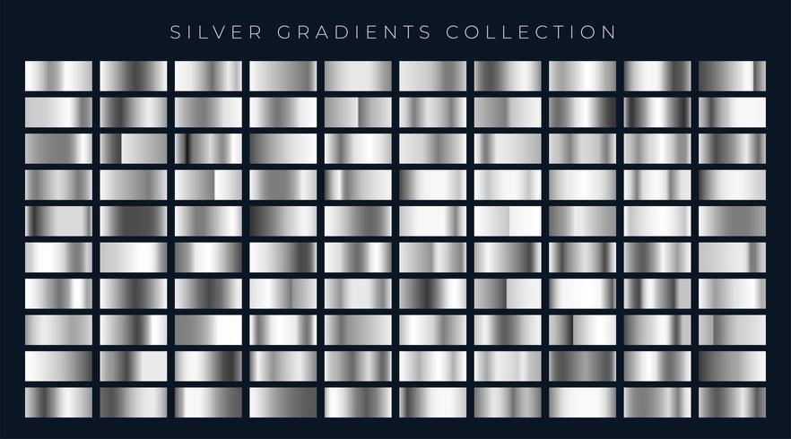 big set of silver or platinum gradients
