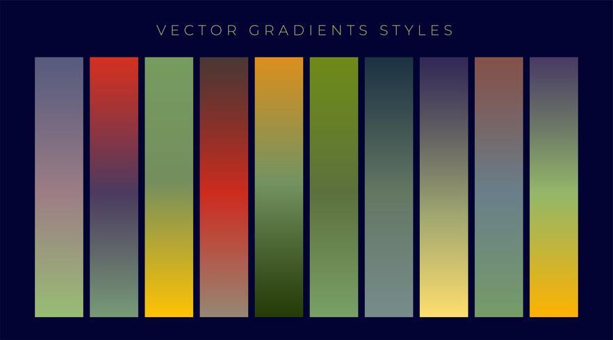 set di design vintage gradienti