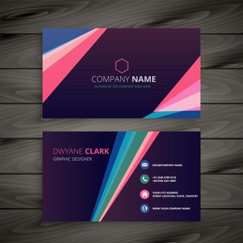 design de cartão de visita criativo com formas geométricas abstratas