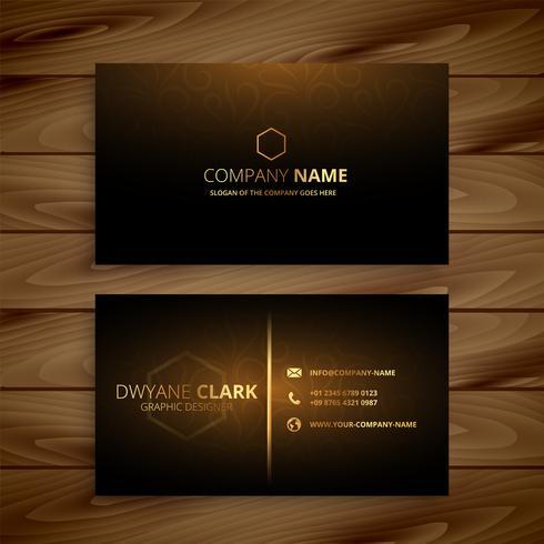 modelo de cartão de ouro premium de luxo