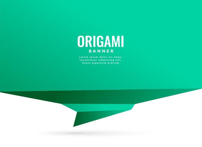 fondo con banner de chat de origami turquesa