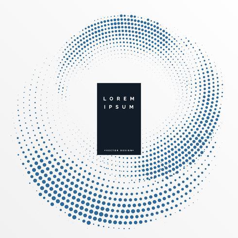 kreisförmige Halbton Design-Muster Hintergrund