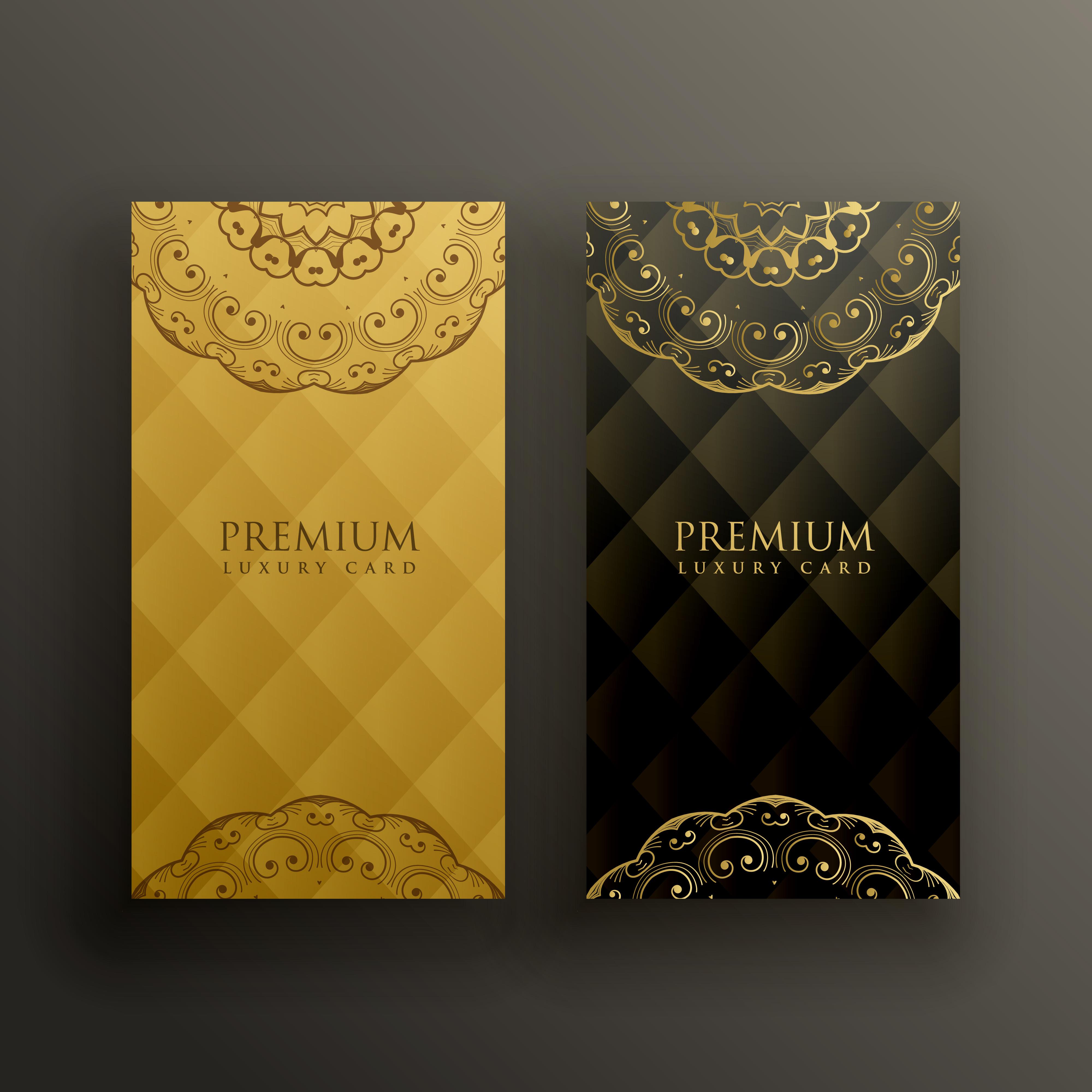 Stylish Mandala Premium Golden Card Design
