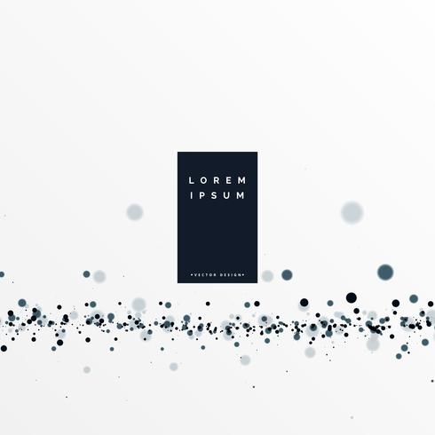 fondo blanco con efecto de partículas negras
