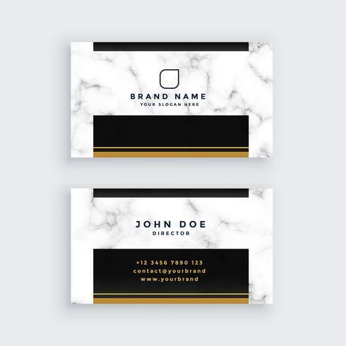 elegante design de cartão de visita de mármore preto e ouro