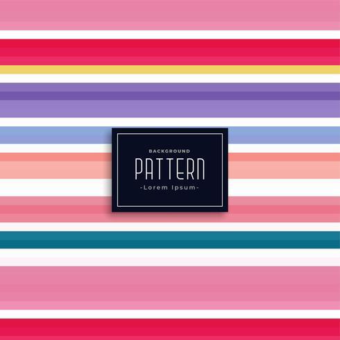 patrón de vector elegante rayas de colores