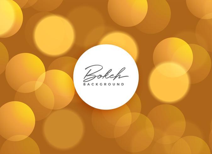 Fondo de hermosas luces bokeh dorado