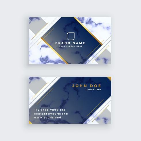 modelo de cartão de visita de mármore azul