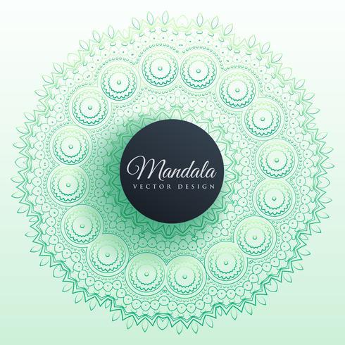 diseño colorido del fondo de la decoración de la mandala