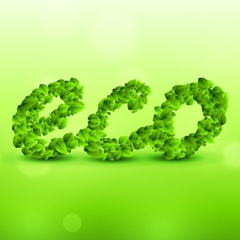 grüner eco Hintergrund gemacht mit Blättern