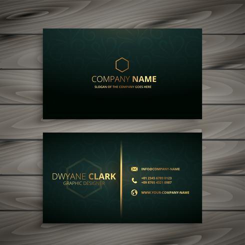 Modele De Carte Visite Elegant Premium