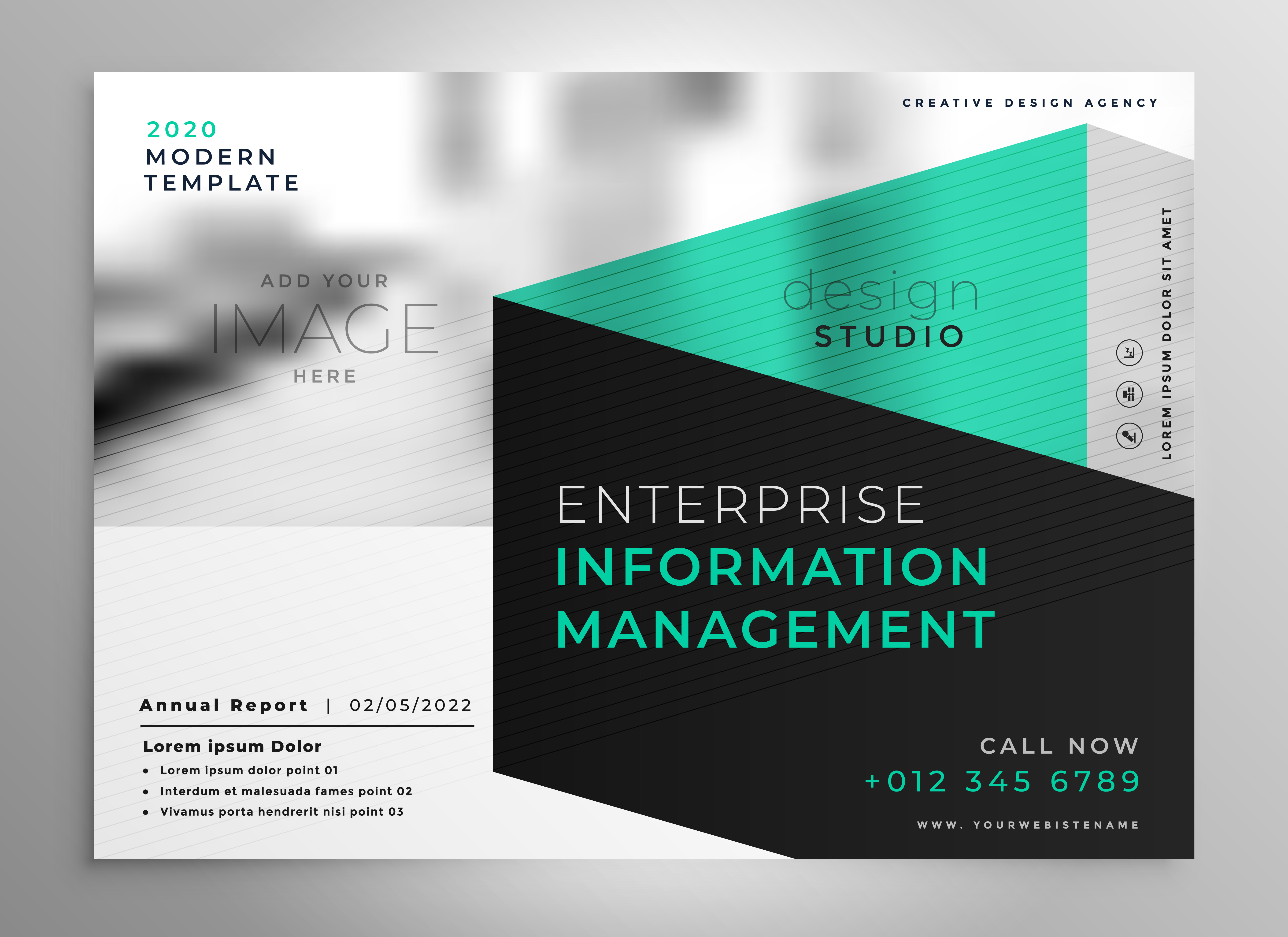 stylish geometric professional brochure template - Download Free ...