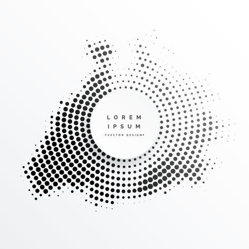 desenho de quadro circular abstrato de meio-tom