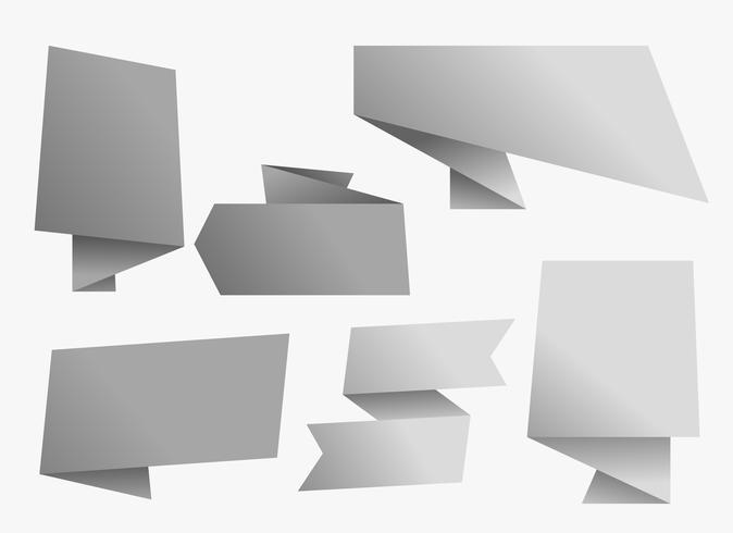 leeg grijs chat origami-bannerontwerp